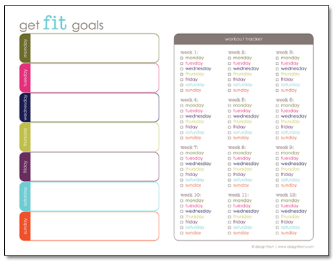 exercise schedule planner - Onwebioinnovate - Free Fitness Journal Printable