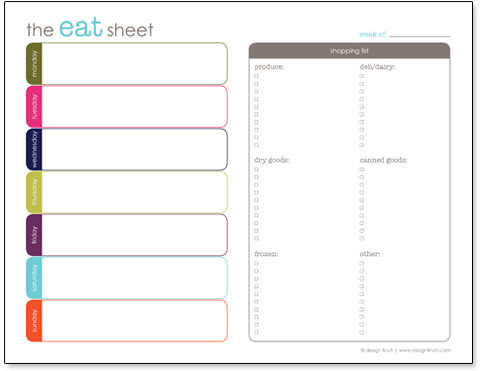 menu planner shopping list template - weekly dinner planner with grocery list