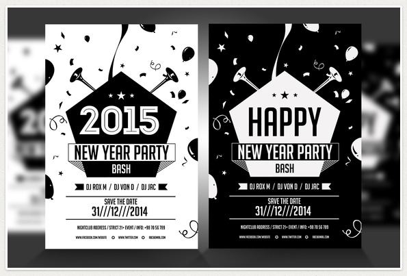 Awesome Christmas Party Flyer Templates Flyers Psd - black and white flyer template