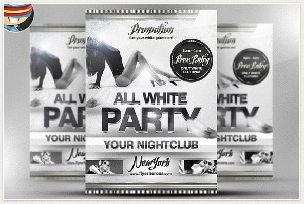50+ Cool club flyers \ party flyer templates Flyer psd - black and white flyer template