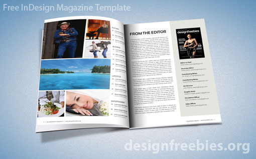 Free Exclusive InDesign Magazine Template v2 Designfreebies - free indesign template