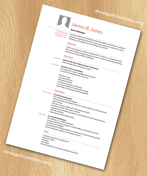 Free InDesign Templates Simple and Clean Resume / CV with Cover