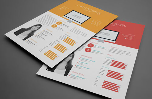 8 Sets of Free InDesign CV/Resume Templates Designfreebies