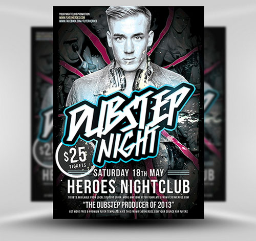 18 Free Photoshop PSD Club Party Poster and Flyer Templates