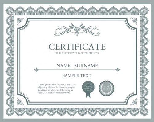 10 Sets of Free Certificate Design Templates Designfreebies - free template certificate