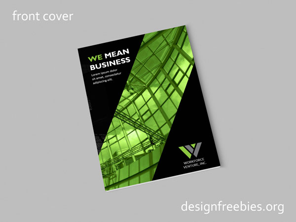 Free Black and Green Company Profile InDesign Template Designfreebies - free indesign template
