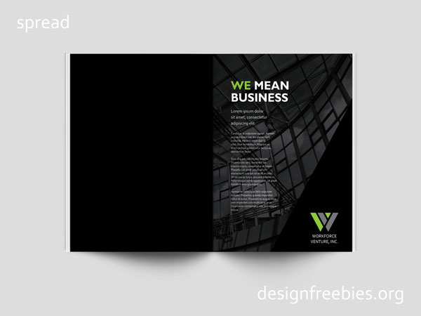 Free Black and Green Company Profile InDesign Template - company profile