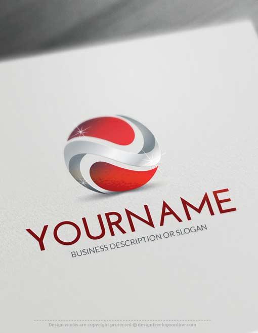Online 3D Logo Maker - 3D Abstract Logo Template