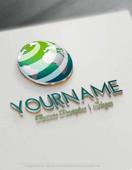 Design Free Logo Online 3D Globe Logo Template