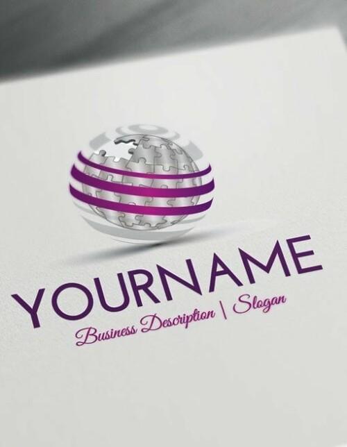 Create your own 3D Puzzle Logo Design - Online 3D Puzzle Globe Logo