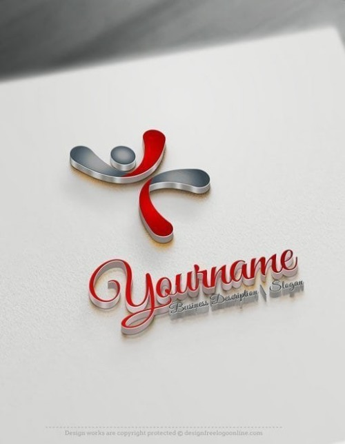 Free Logomaker - Puzzle globe Logo Template