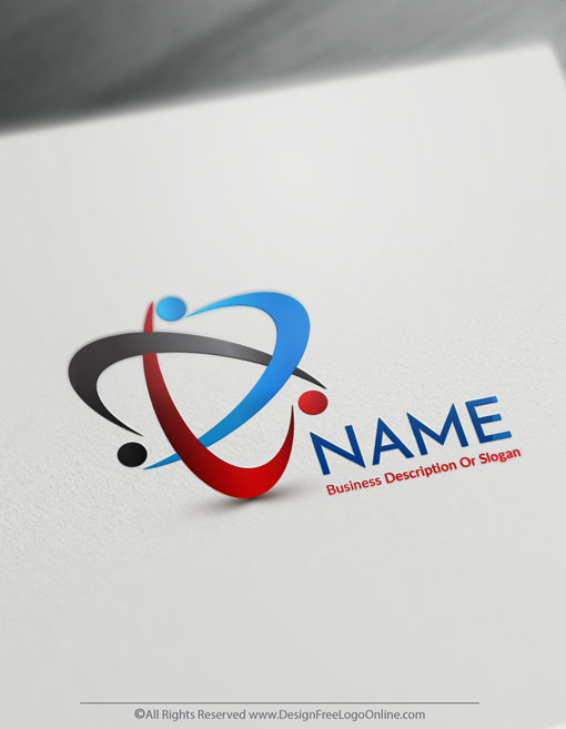 Create People Logos Free - Group of people Logo Templates