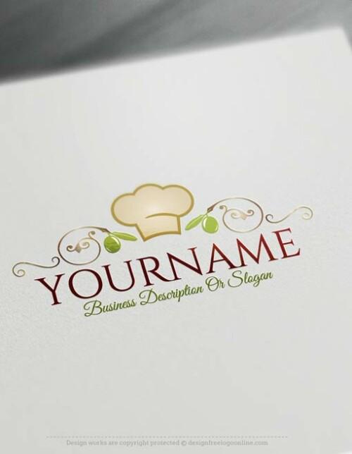 Design Free Logo Restaurant online Logo Template