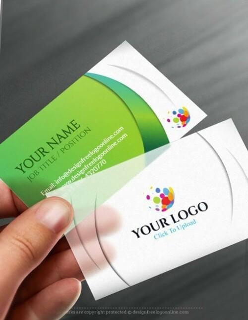 Online Business Card Maker app - 3D Silver Business card Template