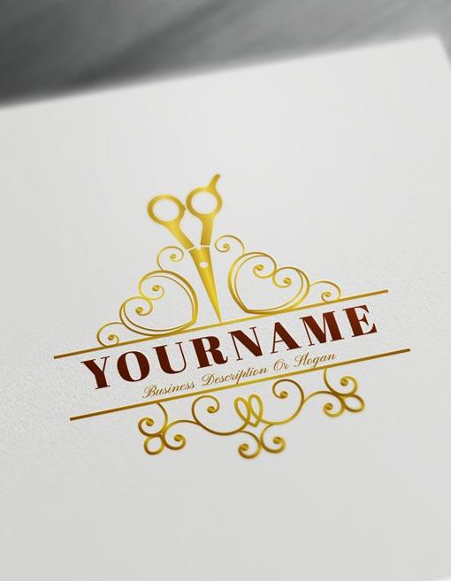 Cool Logo Maker - Hair Salon Logo Design Template - Barber Logos