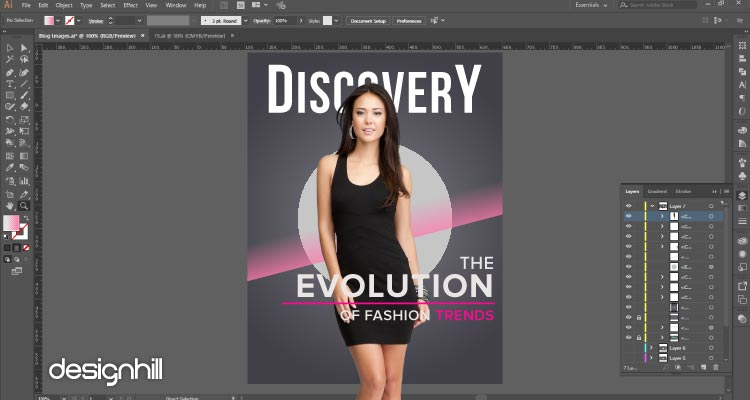 How To Design Magazine Cover With Illustrator