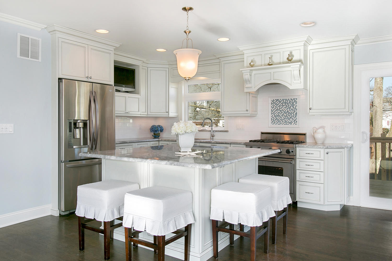 Incredible Split Level Renovation split level kitchen remodel Large Square Kitchen Island