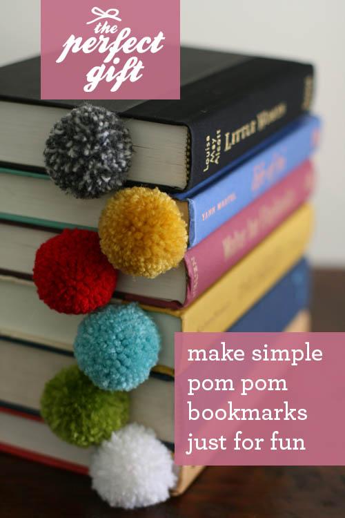 DIY Yarn Ball Pom Pom Bookmark Easy DIYs Design Mom