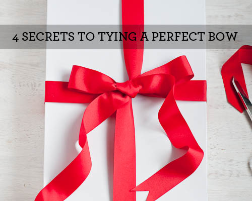 How to Tie a Bow 4 Secrets Living Well Design Mom