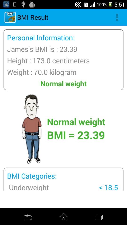 BMI Calculator - Weight Loss - weight bmi