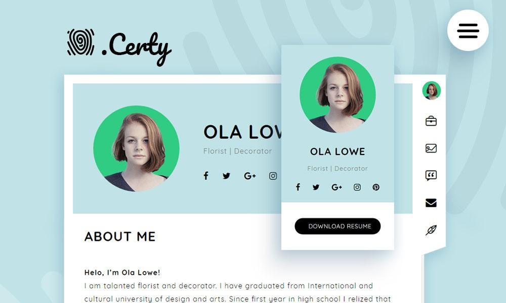 Certy - Wordpress Resume, CV Theme - wordpress resume theme