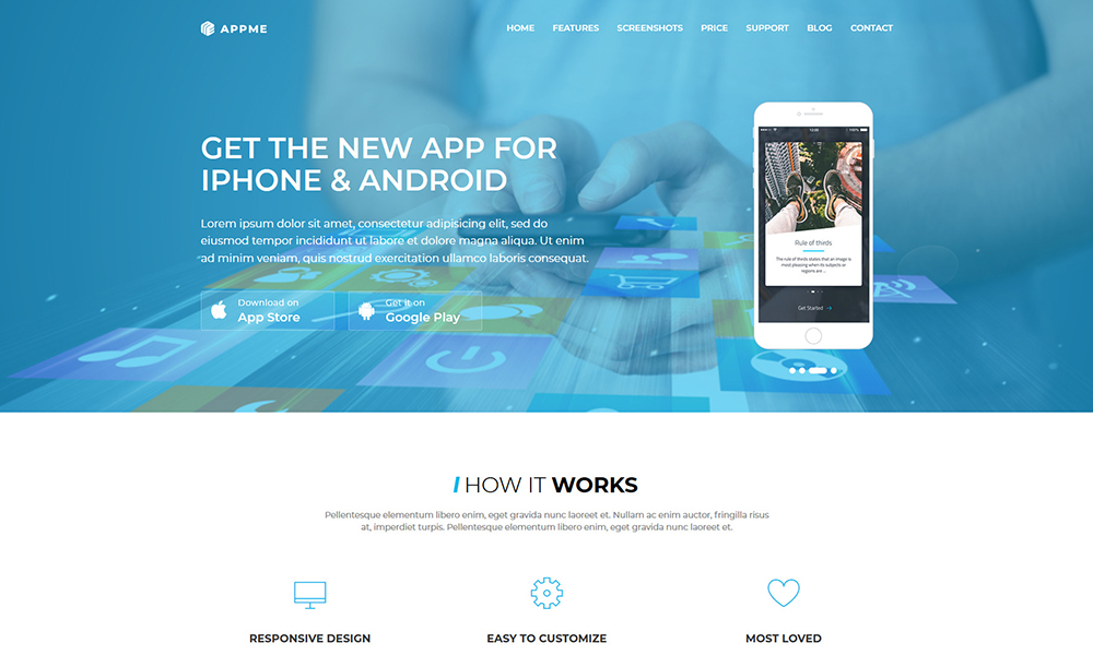 AppMe - App Landing Page Template