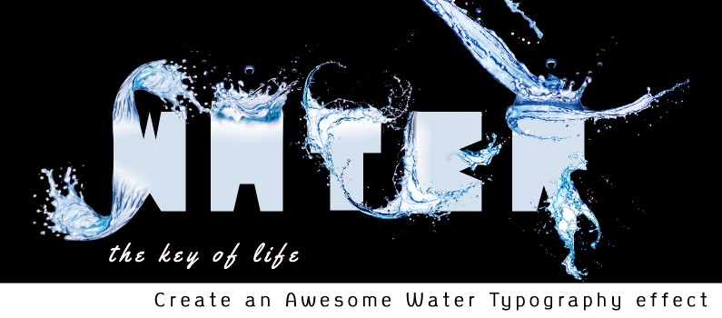 How to Create an Awesome Water Typography Effect using Adobe - illustrator typography tutorials