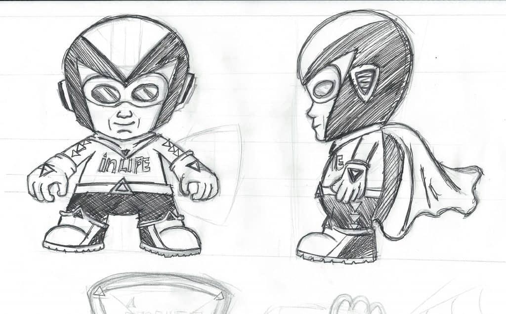 Character design for Inlife Web Design - Design Pit