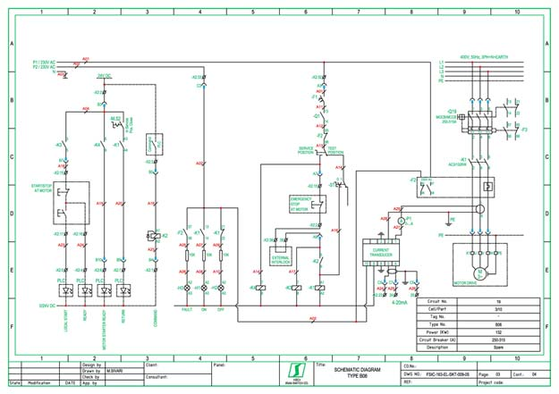 electrical wiring diagram autocad