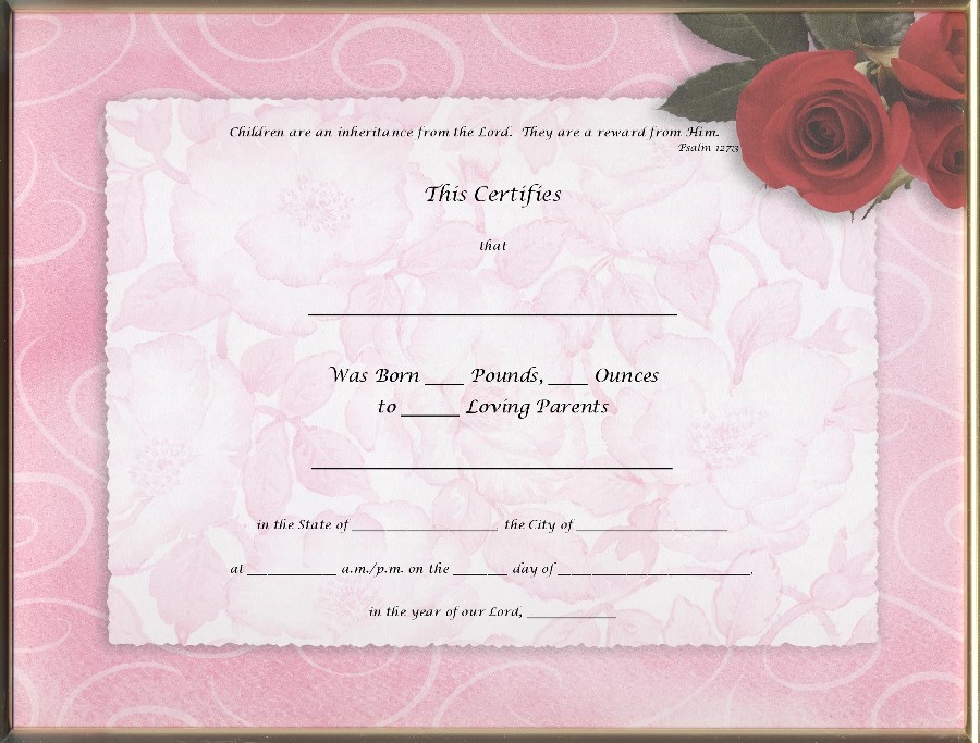 Top Result 60 Unique Novelty Birth Certificate Template Gallery 2017
