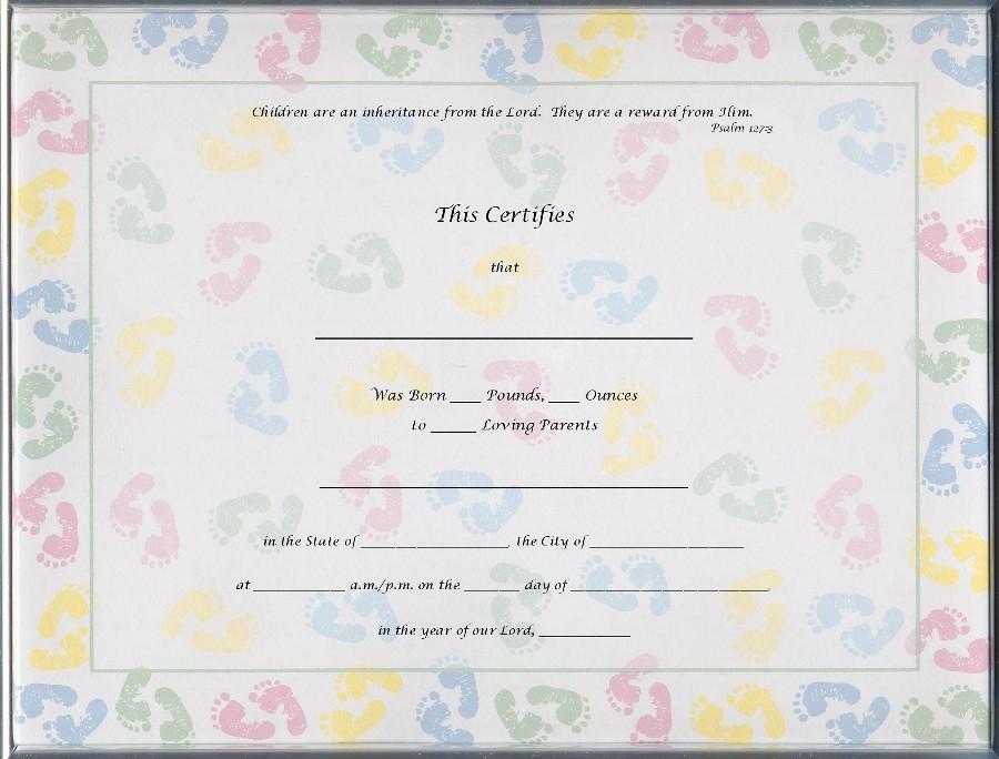 girl birth certificate template - baby birth certificate template