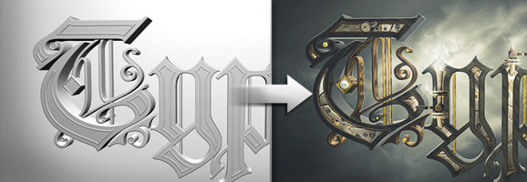 Steam Punk 3D Text Effect