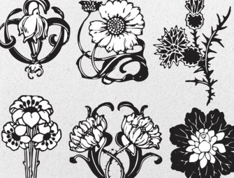 8 Free Floral Vector & Decorative Ornaments Pack