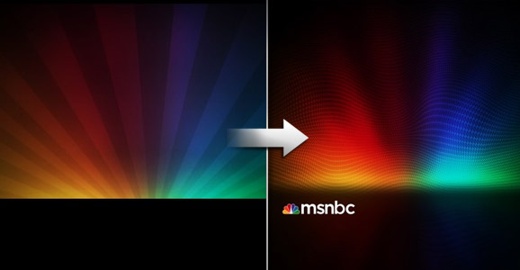MSNBC New Background Design in Photoshop