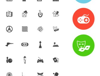 Freebie: 36 Flat Simple Entertainment Icons