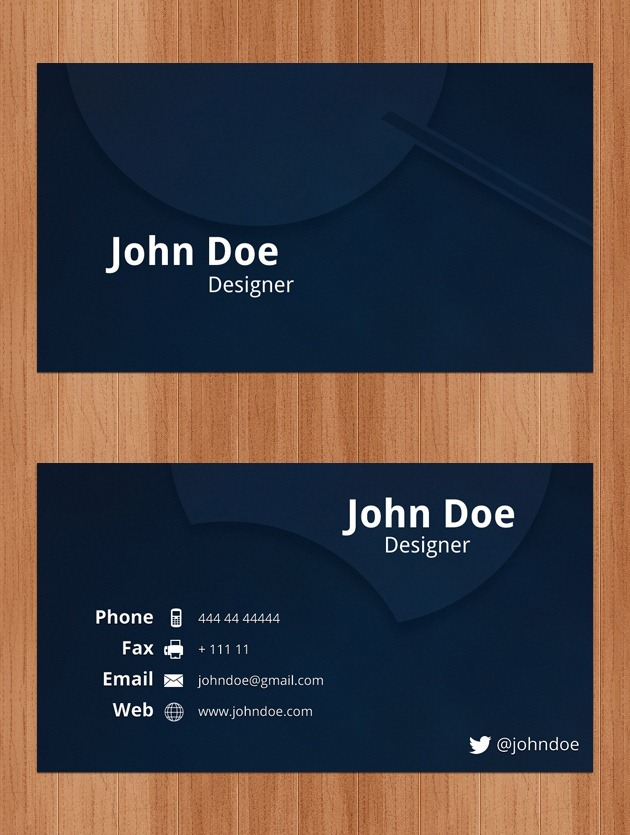 Business Cards PSD - name card format