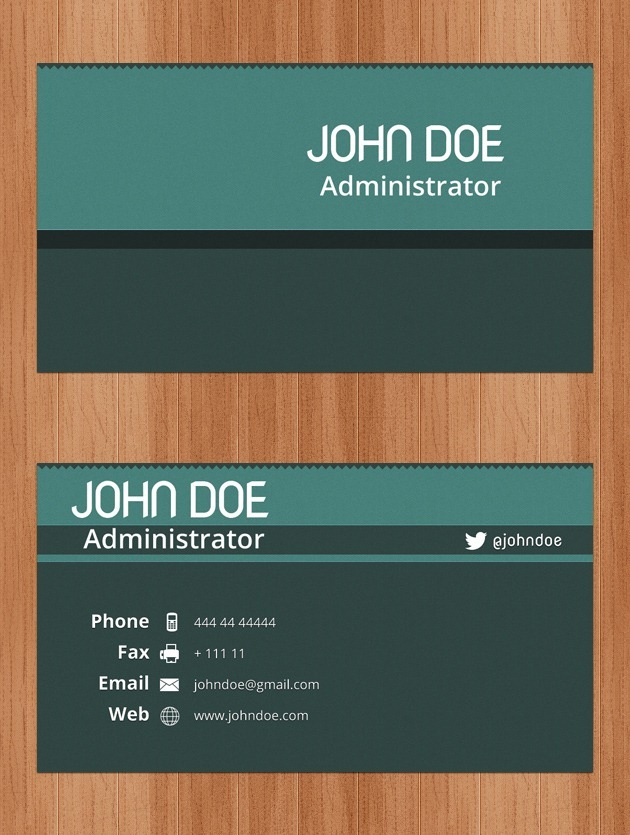 Business Cards PSD - name card example