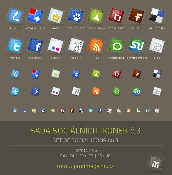 icon packs14 55 Free Social Networking PNG/ICO Icon Packs
