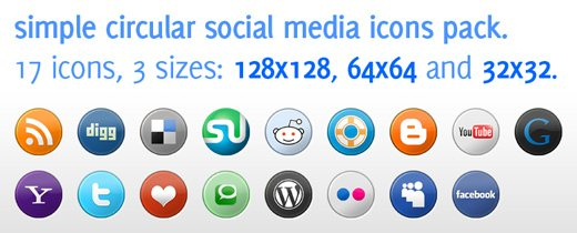 icon packs24 55 Free Social Networking PNG/ICO Icon Packs