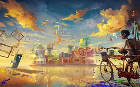 cartoon city world Striking Cartoon Wallpapers to Customize Your Desktop