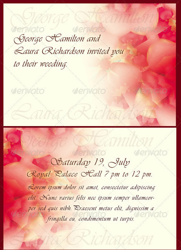 Invitation Card Template For Engagement