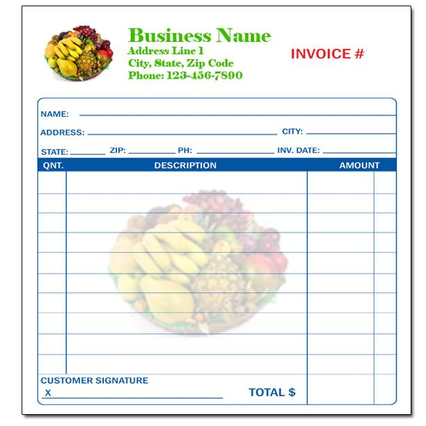Business Forms - Custom Invoices - Receipt Books DesignsnPrint
