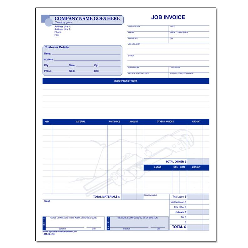 Business Forms - Custom Invoices - DesignsnPrint DesignsnPrint