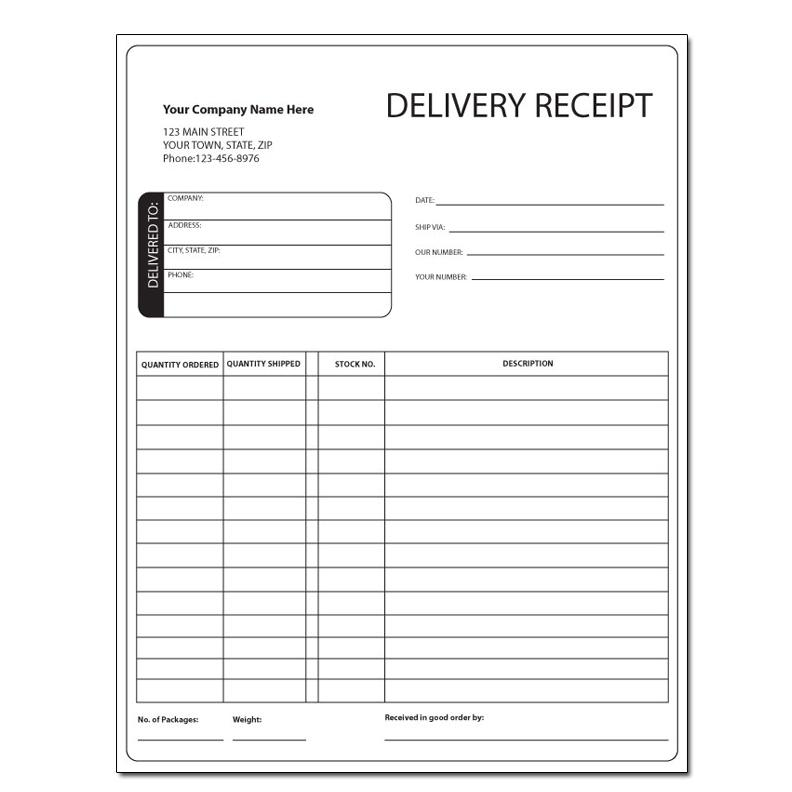 General Invoice Forms  Receipts - Carbonless Printing DesignsnPrint - Delivery Receipt Form