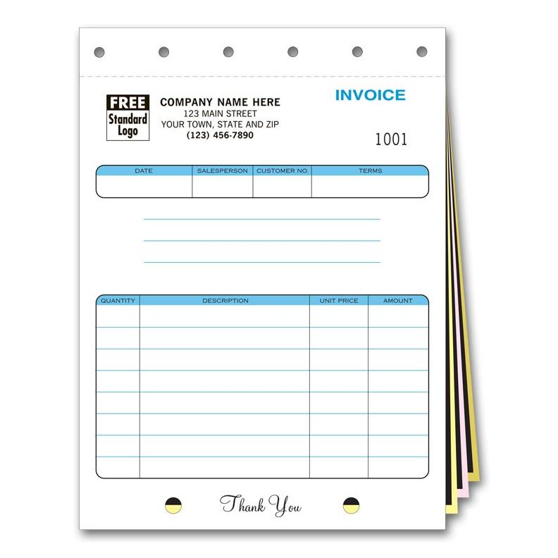 Carbonless Invoice Forms  Account Statements - Custom Printed