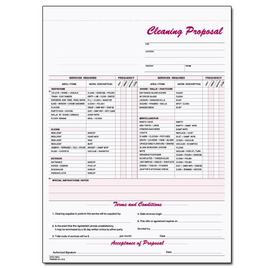 house cleaning invoice