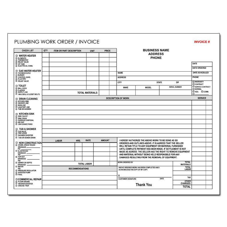 plumbing service invoices - Onwebioinnovate - plumbing invoice