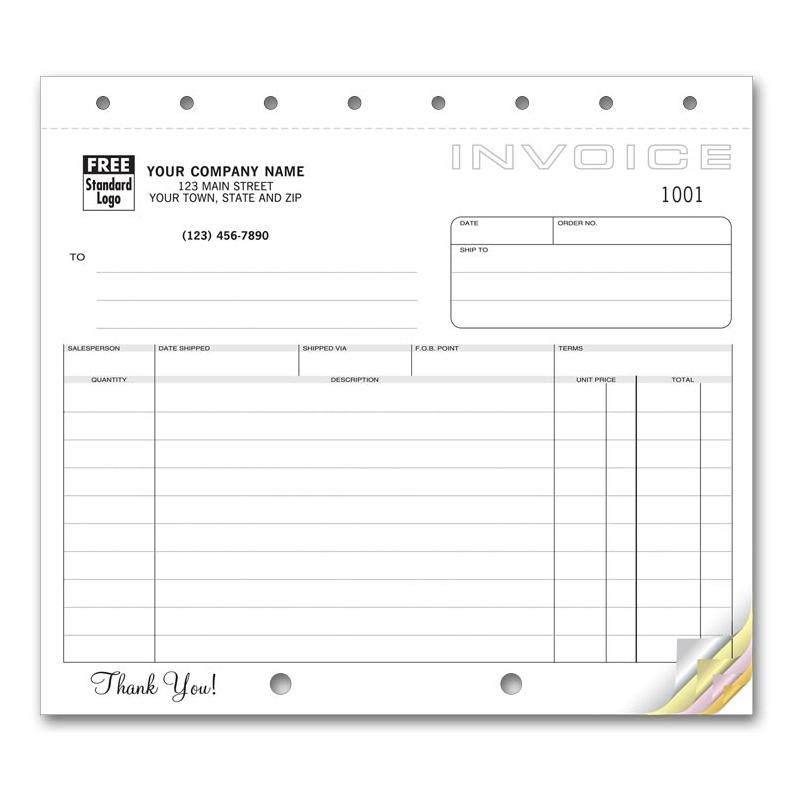 Carbonless Invoice Forms  Account Statements - Custom Printed - order invoices online