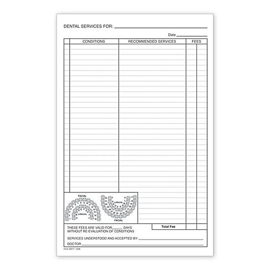 Health Care Forms, Integrated, Carbonless, Custom, Continuous - dental records release form