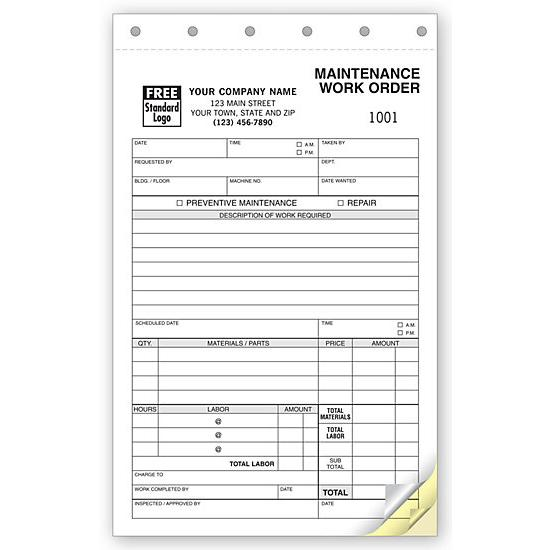 Product Details DesignsnPrint - maintenance work order form